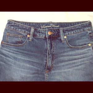 High-wasted hipster jeans